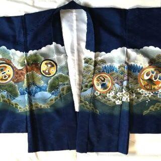 七五三☆五歳男児羽織袴フルセット足袋付き☆濃紺晴れ着着物 - 服/ファッション