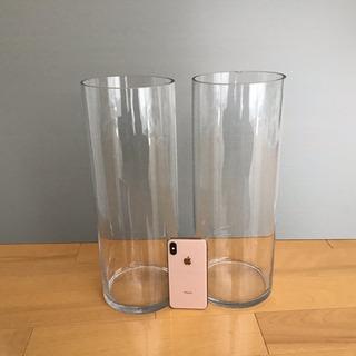 ガラス花瓶2個セット