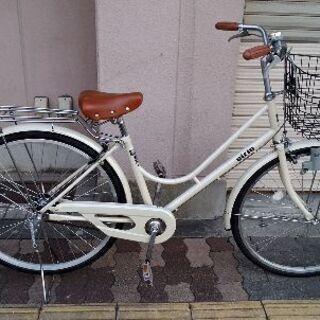 eirin 26吋 ファッションタウンサイクル シングル/オフホワイト