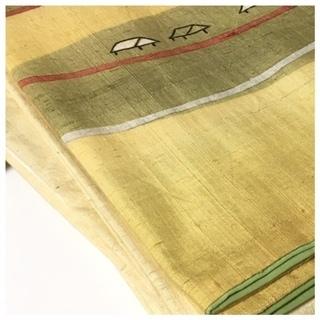 美品 高級呉服 真綿紬 訪問着 身丈159 裄6.5 極上 正絹 紬 袷 中古品 − 埼玉県