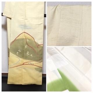 美品 高級呉服 真綿紬 訪問着 身丈159 裄6.5 極上 正絹 紬 袷 中古品 - 売ります・あげます