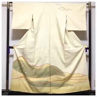 美品 高級呉服 真綿紬 訪問着 身丈159 裄6.5 極上 正...