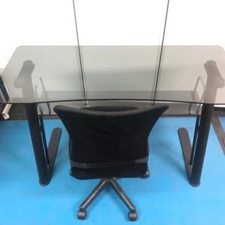 ❤️ガラスの机と椅子セット❤️