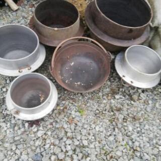 鉄なべ、釜、アルミ鍋