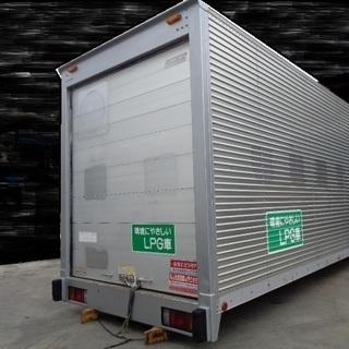 トラックコンテナ 箱 2tロング シャッター 4560x1880x2420 アルミバン 冷凍冷蔵 倉庫 物置 ガレージ 愛媛よりの画像