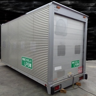トラックコンテナ 箱 2tロング シャッター 4560x1880x2420 アルミバン 冷凍冷蔵 倉庫 物置 ガレージ 愛媛より - 伊予郡