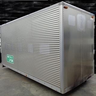 トラックコンテナ 箱 2tロング シャッター 4560x1880x2420 アルミバン 冷凍冷蔵 倉庫 物置 ガレージ 愛媛より - その他