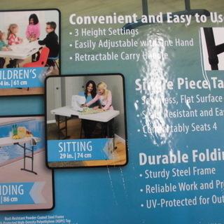 コストコ折り畳み式テーブル(屋外・屋内対応) 折りたたみテーブル テーブル 幅:1224cm 苫小牧西店 - 家具