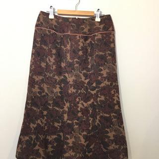 ①オリーブデオリーブ ニット花柄裾フリルスカート #Cattleya