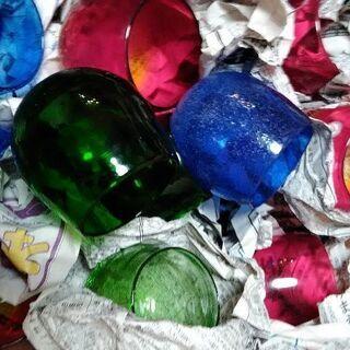 沖縄 琉球ガラス 泡盛 ロックグラス 22こまとめて