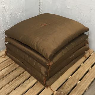 厚手の座布団5枚セット 茶色