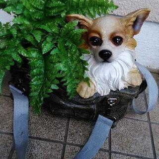 植木鉢 犬 レジン
