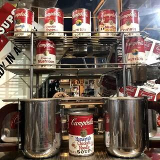 非売品 大型47cm キャンベルスープ 本物!! 製造セッ…