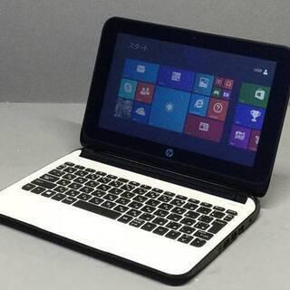 「「値下げ」」 ★HP Pavilion10  指先で動くタッチスクリーン Windows8.1  キレイなホワイトカラー  美品  バッテリーOK★ - パソコン