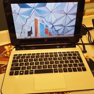 「「値下げ」」 ★HP Pavilion10  指先で動くタッチスクリーン Windows8.1  キレイなホワイトカラー  美品  バッテリーOK★ - 売ります・あげます