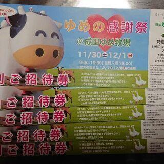 成田ゆめ牧場 チケット