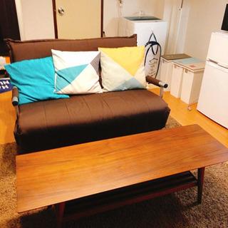 ソファベッド、テーブル、マットの3点セット