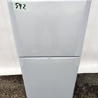 592番 TOSHIBA✨ノンフロン冷凍冷蔵庫❄️YR-12T‼️