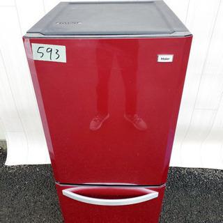 593番 Haier✨冷凍冷蔵庫❄️JR-NF140H‼️