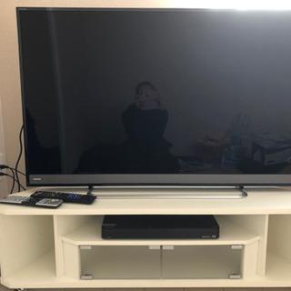 美品 東芝 50インチテレビ ブルーレイレコーダー テレビ台