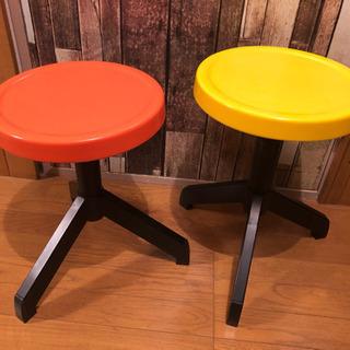 オシャレ丸椅子★高さ調整可能