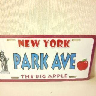 新品✨お洒落な『NEW YORK』 ナンバープレート型 値下げ💴⤵