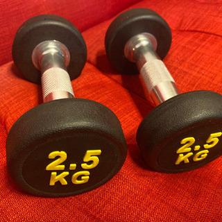 ラバーダンベル  2.5kg   2個セット