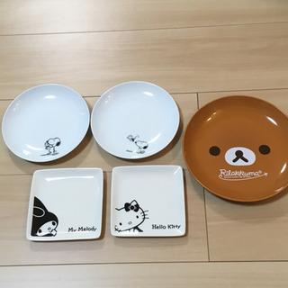 キャラクターお皿5枚セット