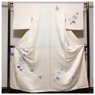 欄菊 付下げ 紋無し 高級呉服 正絹 身丈158 裄63 袷 ...