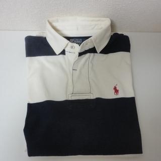 POLO RALPH LAUREN ラガーシャツ ワンポイント ボーダー長袖シャツ 323749979 メンズ - 服/ファッション