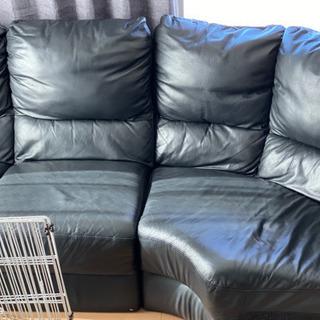 皮のソファー