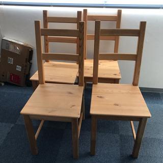4つセット✨シンプル椅子 木製 ダイニングチェア