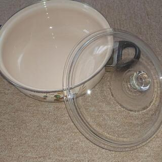 両手鍋(蓋付き)