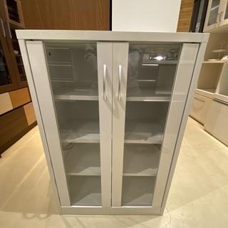 食器棚 収納棚 白 中古品