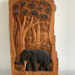 木彫り 象 置物