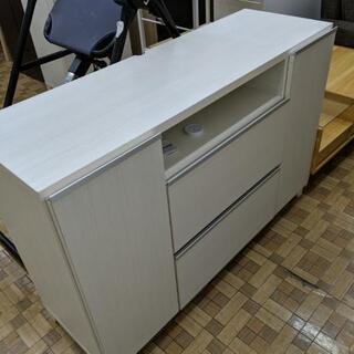 未使用品 レンジ台 キッチン収納 ホワイト色