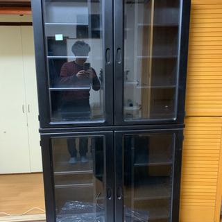 前後に収納可能な大容量書棚