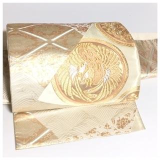 特品 高級 付け帯 金糸 丸紋 極上 正絹 袋 二重太鼓 作り...
