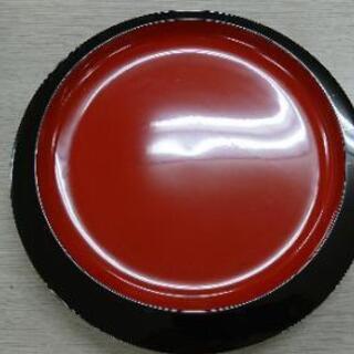 琉球 角萬 漆器 半月盛器 盛器 茶道具