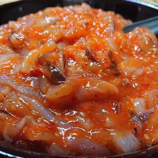 【練り胡麻風味がたまらない☆】業務用いか坦々1kg(冷凍)