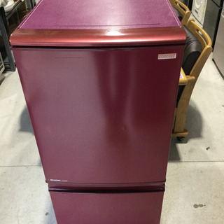 SHARP 137L 2ドアノンフロン冷凍冷蔵庫 SJ-C14T...