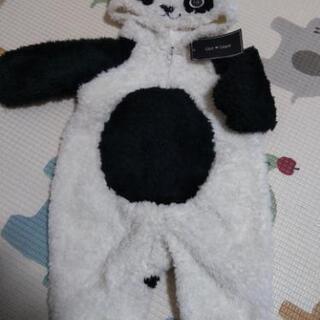 №253 新品パンダさんモコモコカバーオール着ぐるみ70