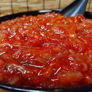 【本格派キムチ味☆】業務用いかキムチ1kg(冷凍)