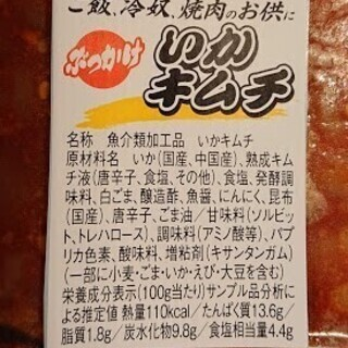 【本格派キムチ味☆】業務用いかキムチ1kg(冷凍) - 牛久市