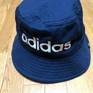 アディダス 帽子 バケットハット 紺色 L(58cm)