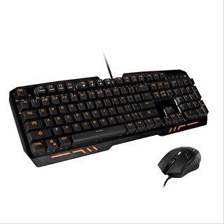 新品未使用 ゲーミングキーボードフルサイズ マウス付属、青軸、メ...