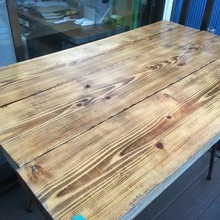 テーブル*DIY*アイアンウッド1