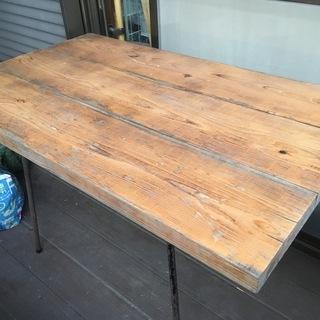 テーブル*DIY*アイアンウッド2