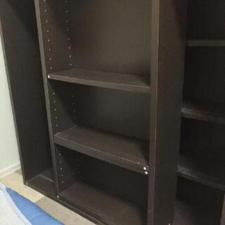 【取引中】本棚 稼働棚 スライド式 前後に収納可能