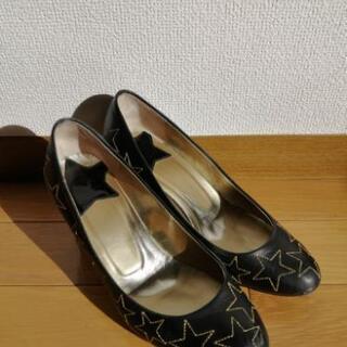 アナスイ 靴 星型太ヒール パンプス 23.5cm